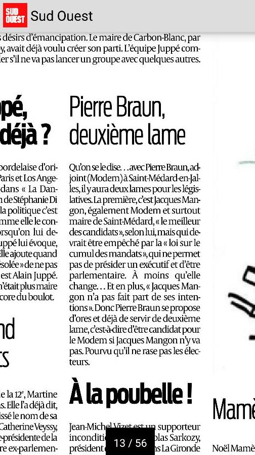 Pierre Braun, deuxième lame